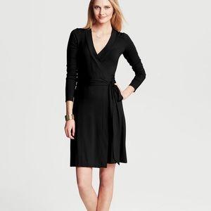 Banana Republic Black Gemma Wrap Dress